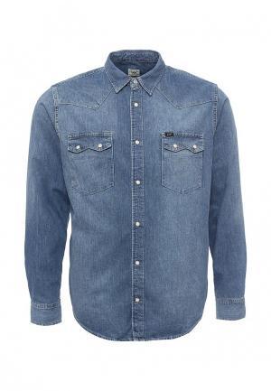 Рубашка джинсовая Lee. Цвет: синий