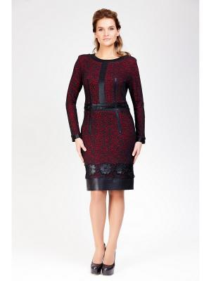 Платье Amelia Lux. Цвет: черный, красный