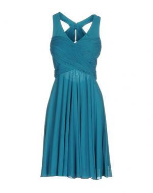 Короткое платье MUSANI COUTURE. Цвет: лазурный
