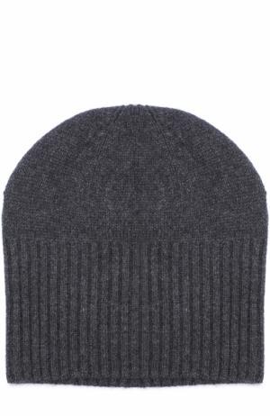 Кашемировая шапка бини Allude. Цвет: темно-серый