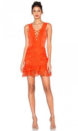 Мини платье ada Karina Grimaldi. Цвет: оранжевый