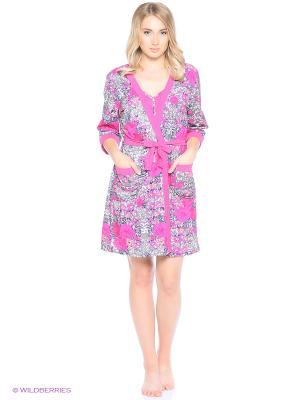 Комплект домашней одежды (халат, ночная сорочка) HomeLike. Цвет: фуксия