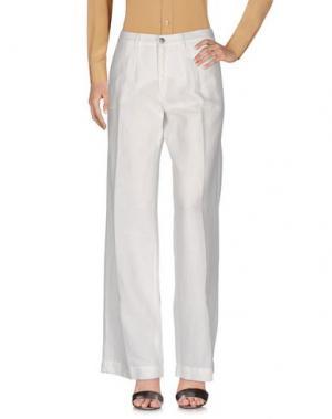 Повседневные брюки MASSIMO ALBA. Цвет: белый
