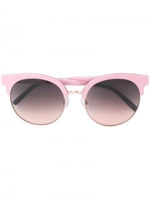 Солнцезащитные очки с круглой оправе Matthew Williamson. Цвет: розовый и фиолетовый