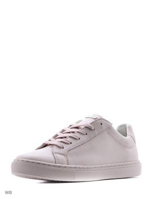 Кеды GEOX. Цвет: бледно-розовый, белый