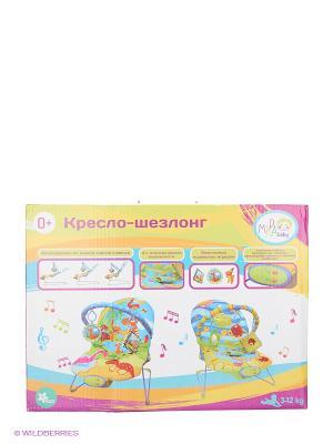 Шезлонг Веселый динозаврик Amico. Цвет: голубой, зеленый