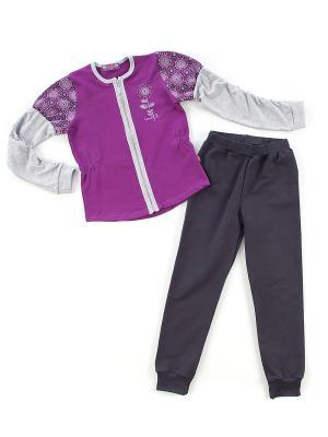 Комплект одежды Апрель. Цвет: сиреневый, серый, темно-серый