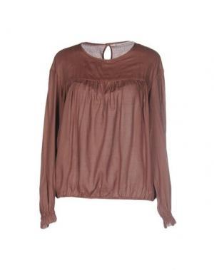 Блузка NOVEMB3R. Цвет: коричневый