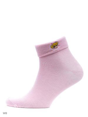 Носки - 4 пары Malerba. Цвет: светло-зеленый, розовый