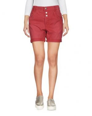 Джинсовые шорты ONLY. Цвет: кирпично-красный