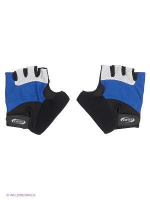 Велоперчатки BBB. Цвет: синий, белый, черный