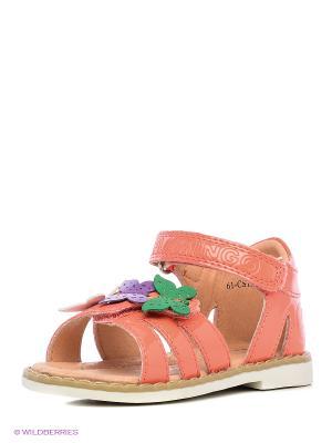 Сандалии Flamingo. Цвет: коралловый