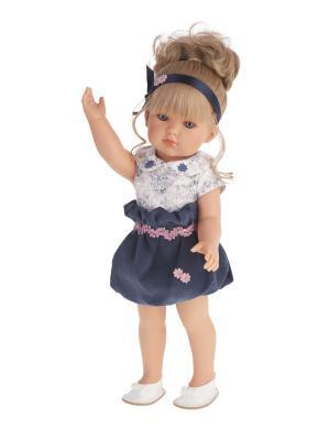 Кукла Белла в синем платье, 45см Antonio Juan. Цвет: синий