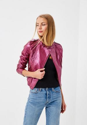 Куртка кожаная Fascinate. Цвет: фиолетовый