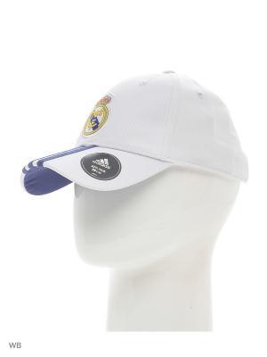 Бейсболка REAL H 3S CAP  CRYWHT/RAWPUR Adidas. Цвет: белый, фиолетовый
