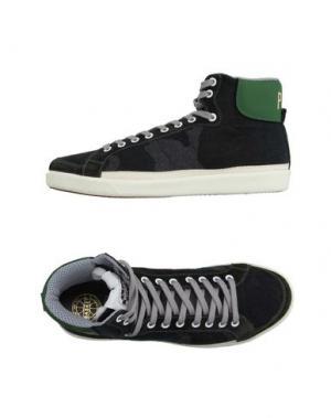 Высокие кеды и кроссовки PANTOFOLA D'ORO. Цвет: темно-зеленый