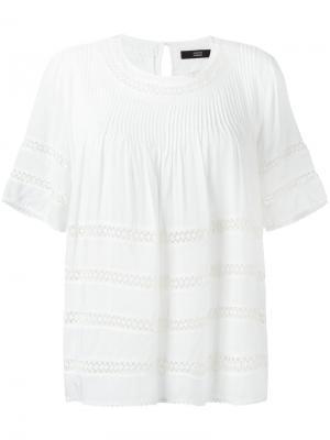 Блузка с английской вышивкой Steffen Schraut. Цвет: белый