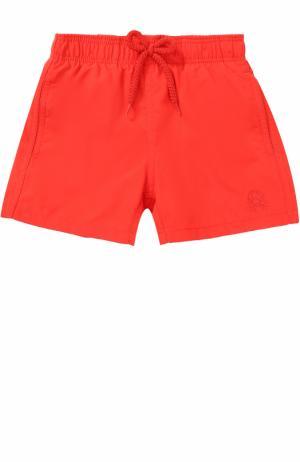 Однотонные плавки-шорты Vilebrequin. Цвет: красный