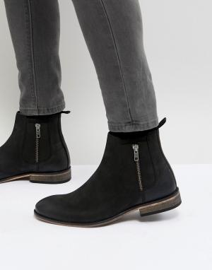 ASOS Черные замшевые ботинки челси. Цвет: черный