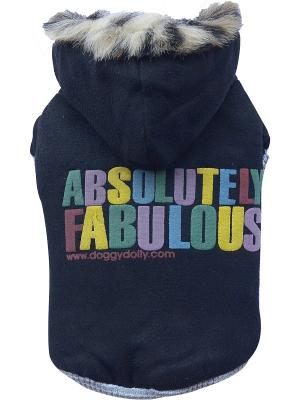 Куртка Absulutely с мехом Doggy Dolly. Цвет: черный