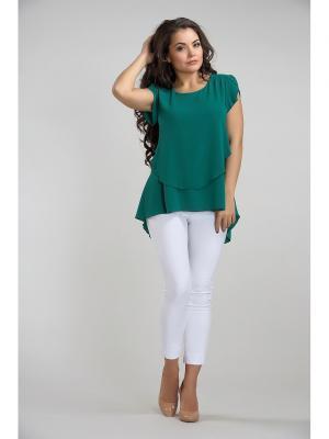 Блуза LIORA. Цвет: зеленый