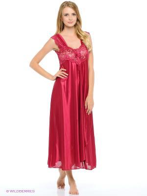 Сорочка ночная Belweiss. Цвет: бордовый