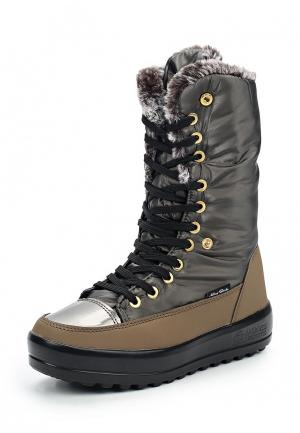 Дутики King Boots. Цвет: коричневый