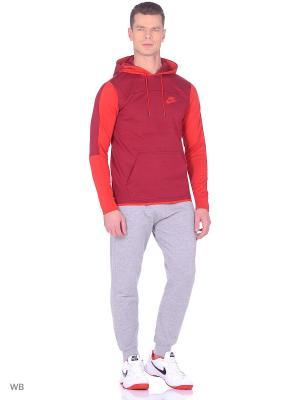 Худи M NSW AV15 HOODIE PO FLC Nike. Цвет: красный