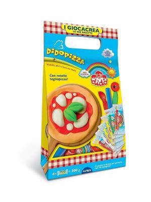 Dido Pizza, набор для лепки, паста 6*50гр, 3 стека+вспомог. материал FILA. Цвет: синий, голубой, желтый