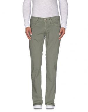 Повседневные брюки 9.2 BY CARLO CHIONNA. Цвет: зеленый-милитари
