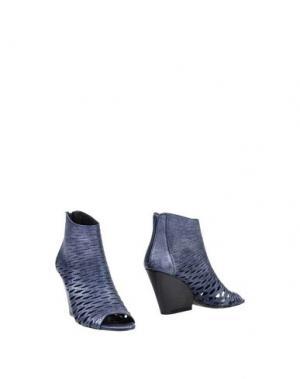 Полусапоги и высокие ботинки NORA BARTH. Цвет: грифельно-синий