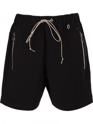 Шорты с карманами на молнии Mr. Completely. Цвет: чёрный
