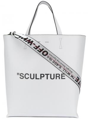 Sculpture tote Off-White. Цвет: белый
