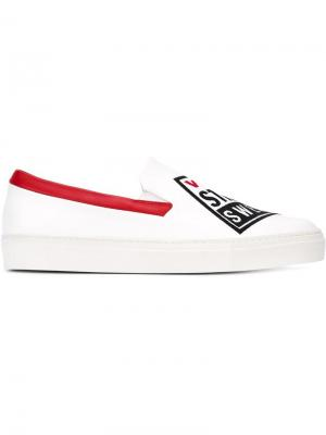 Кеды-слипон Vision Street Wear x Swear. Цвет: белый
