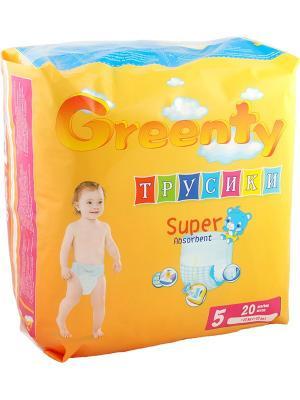 Одноразовые детские подгузники-трусики GREENTY 5 (+ 12 кг) 20 шт.. Цвет: белый