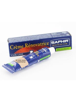 Восстановитель кожи Creme RENOVATRICE, 25 мл. (жидкая кожа)(82 скорлупа) Saphir. Цвет: молочный