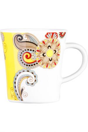 Чашка для чая KAHLA. Цвет: желтый