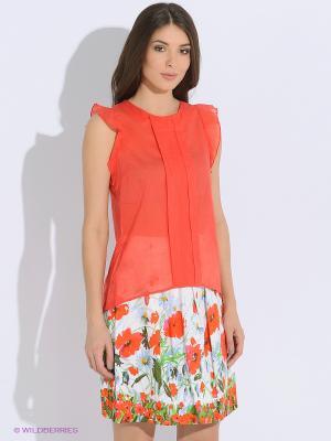 Блузка LUIGI FERRO. Цвет: красный