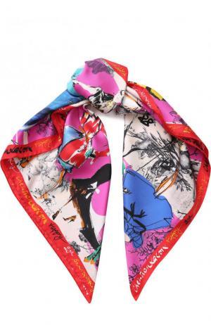 Шелковый платок с принтом Christian Lacroix. Цвет: фуксия