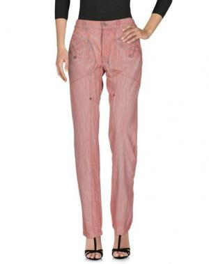 Джинсовые брюки GAETANO NAVARRA. Цвет: пастельно-розовый