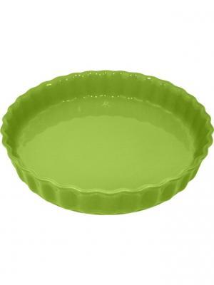 Блюдо для пирога 28х28х5 см Appolia. Цвет: салатовый