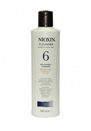 Очищающий шампунь Система 6 Nioxin. Цвет: белый