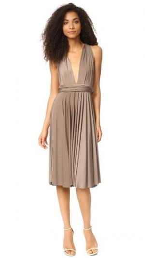 Платье-трансформер до колен Twobirds. Цвет: гриб