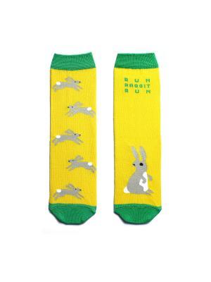 Носки махровые Big Bang Socks. Цвет: желтый