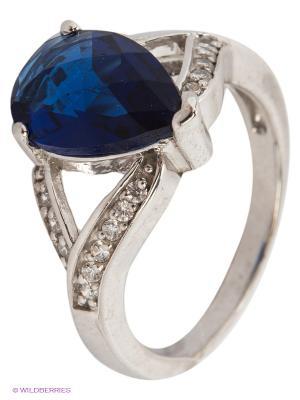 Кольцо Lovely Jewelry. Цвет: синий, серебристый