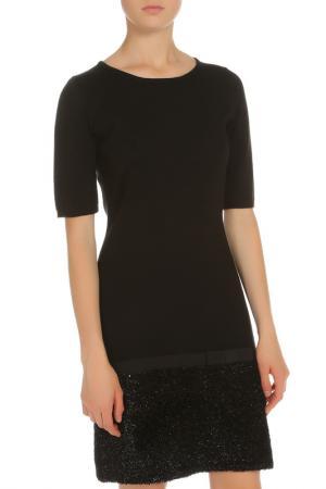 Платье прямого покроя с люрексом Tuzzi. Цвет: черный