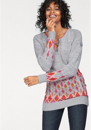 Пуловер Kangaroos. Цвет: серый меланжевый