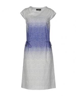 Платье до колена CIVIDINI. Цвет: синий