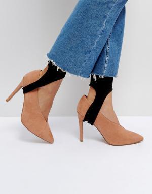 ASOS Однотонные носки со штрипками. Цвет: черный