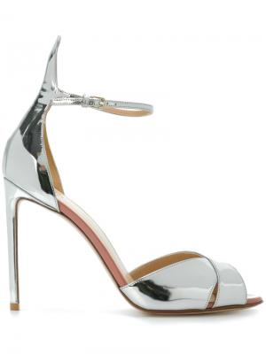 Slingback mirror sandals Francesco Russo. Цвет: металлический